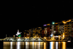 Lights in the night (photoday03) Tags: night lights portovenere sea gulf house old boats nikon shadow reflexes black