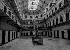 Kilmainham (NBD Photography) Tags: history historic prison hall stairs monochrome cells