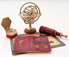 Antique Shop # 7 (MurderWithMirrors) Tags: rement miniature antique mwm globe compass telescope book