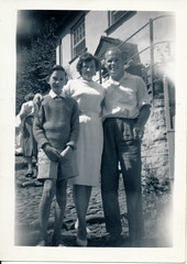 IMG_0003 Clovelly North Devon 1960 Family Holiday Geoff & Jean Spafford RIP and MGS in boys short trousers (photographer695) Tags: clovelly north devon 1960 family holiday geoff jean spafford rip mgs boys short trousers