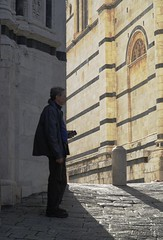 Gary, next to the Duomo entrance, close-up (Tatiana12) Tags: siena italy sienacathedral architecture unescoworldheritagesite church art