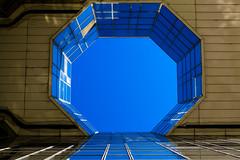Géométrie abusive / Geometry abuse (fidgi) Tags: paris architecture abstract abstrait reflet reflection lumière light octogone geometric géométrique blue bleu leponant olivierclémentcacoub canon canoneos5dmk3 tamron