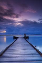 Troubled Horizons (jsnowy2768) Tags: militaryjetty goldenbeach queensland australia jetty pumicestonepassage bribieisland esplanade beach sand water waves clouds horizon dawn sunrise reflections