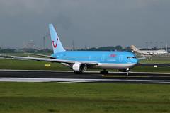 OO-TUC_20050521_016_M (Black Labrador13) Tags: ootuc boeing 767 b767 767300 767341 jetair bru ebbr tui airlines belgium avion plane aircraft vliegtuig airliners civil