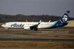 N274AK (Glen Novitsky) Tags: kbna alaska airlines boeing 739 737900 canon 6d full frame
