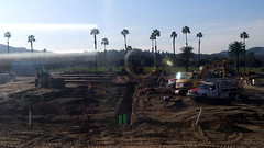 (Rich T. Par) Tags: pomona phillipsranch socal southerncalifornia losangelescounty lacounty constructionsite constructionvehicles california palmtrees tree suburb tractor dirt civilengineering grader sky frontloader steamroller roadroller civilengineers heavyequipment trench pipes tubes excavator
