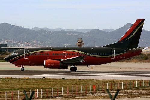 KLASJET LY-KDT BOEING 737-500 VIP BCN/LEBL - a photo on