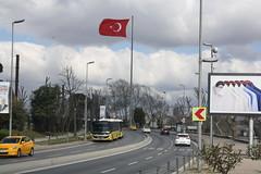Kennedy Caddesi (lazy south's travels) Tags: sultanahmet district istanbul turkey turkish old city flag road street scene urban car bus