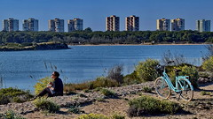 Picnic by the lake (gerard eder) Tags: world travel reise viajes europa europe spain spanien valencia wasser water landscape landschaft lake lago lagodelaalbufera picnic bicycle skyline paisajes panorama people peopleoftheworld architecture arquitectura architektur natur nature naturaleza outdoor