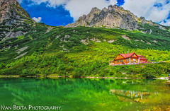 One of a kind (Ivan Berta) Tags: green hut slovakia europe holiday summer mountains nature cloud clouds sky blue tatras lake tarn water scenery slovensko slovak republic