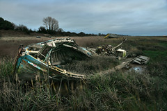 Decomposition (PentlandPirate of the North) Tags: boat wreck carcass mud wooden sheldrakes wirral heswall graveyard derelict