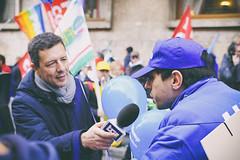 DSCF7233 (Alessandro Gaziano) Tags: foto fotografia alessandrogaziano roma colori colors people gente manifestazione diritti italia italy visioni lavoro lavoratori