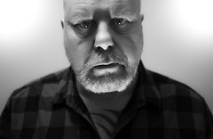 Mono Me. . . (CWhatPhotos) Tags: cwhatphotos camera photographs photograph pics pictures pic picture image images foto fotos photography artistic that have which contain flickr olympus pen ep5 self selfie portrait me this art bw mono black white man male he beard goatee pose poser