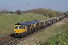 66739 30-03-19 (IanL2) Tags: gbrf class66 66739 bluebellrailway meltonmowbray leicestershire railways trains 6m76 emd