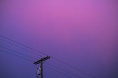Distorted Love (Elzyy) Tags: blue sky cloudy evening everett horizon lovely outside pink pnw powerline purple rainbow spring street summer sunset travel weather twilight