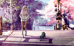 Sunday Walk (Natsumi Xenga) Tags: catwa hanako maitreya session angi manners ling japan cute kawaii japanese composite photoshop youtube chuck hippo walking jzenith pawpaw navycopper asteroidbox garter platform sneakers