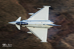 RAF Typhoon FGR.4 ZK369 low level at Tebay (NDSD) Tags: low level typhoon eurofighter fgr4 thirlmere cumbria fpennine pennines flying jet raf lake district plane aviation aircraft dales tebay motorway panning 2 squadron flight