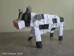Vache (Origaiku) Tags: origami modulaire modular vache cow pixelunit