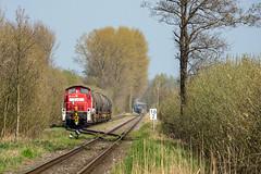 Marschacht 295 021-0 Kesselwagen (Wolfgang Schrade) Tags: db dbcargo br295 v90 2950210 kesselwagen kesselwagenzug marschacht bockchemie güterzug eisenbahn zug