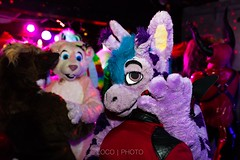 8M5A3782-33 (loboloc0) Tags: furries frolicparty frolic party furry club dance suit suiter fur fursuit dj sf san francisco indoor people costume performer animal blur portrait