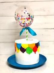 Balloon birthday cake (AnnaMsCakes) Tags: rainbow wilton chocolate vanilla icing buttercream fondant cake birthday balloon