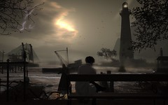 Absence sharpens love. Presence strengthens it. (Chiaki♪) Tags: secondlife sl river sunset sun mood alone