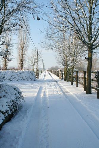 slag in de sneeuw