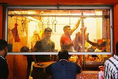 Butchers (Hem.Odd) Tags: malaysia kualalumpur olympusxa3 expired xtra800 fujifilm butcher meat