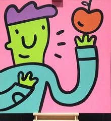 YYC YWCA Public Art (Mr. Happy Face - Peace :)) Tags: unknown art2019 yyc ymca art display love flickrfriends community family wtbw sketch drawing
