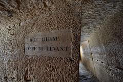 Rue d'Ulm - côté du levant (flallier) Tags: paris souterrain underground quarry limestone calcaire galerie tunnel ruedulm côtédulevant levant plaque igc nikon d800 zeiss distagon gravurelapidaire catacombes catacombs