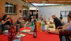 Hanging After Lunch (mikecogh) Tags: findon family christmasday hangingout table relaxing luke gilles joti anne celine bottles