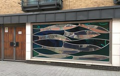 Fish (Bruce82) Tags: 119picturesin2019 appleiphonese door window display fish metalwork artwork 74 74of119 sculpture stainlesssteel chelmsford essex bondstreet