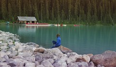Lake Louise Banff National Park (yuanxizhou) Tags: vacation travel beautiful amazing trees canada rockies banff lakelouise nature mountain watercolor lake