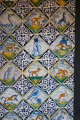 Antique Dutch hand-painted animal tiles (quinet) Tags: 2017 amsterdam antik netherlands rijksmuseum ancien antique museum musée