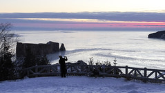 Cold Morning at Percé (Danny VB) Tags: percé cold morning rocher gaspésie québec canada sunrise lever soleil sony alpha 6300 a6300 alpha6300 mirrorless sansmirroir winter neige hiver snow