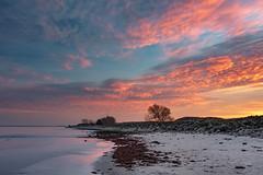 Sunset (Siebbi) Tags: himmel sky wolken clouds sonnenuntergang sunset damp photowalk schleswigholstein deutschland