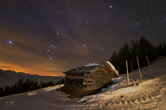 Starry Mountain Hut (markus_langlotz) Tags: mountains sky stars sterne astronomie astronomy starry night milky way milchstrase twan nightscape