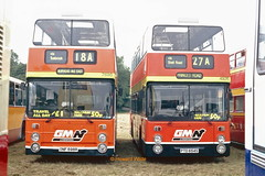 G M Buses North 7698 (ONF 698R), 4926 (PTD 654S) (SelmerOrSelnec) Tags: gmbusesnorth leyland atlantean northerncounties onf698r fleetline ptd654s manchester heatonpark translancs bus rally greatermanchesterpte greatermanchestertransport gmt gmpte lancashireunitedtransport lut