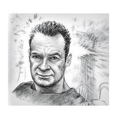 Self portrait, June 2017 (jasoux) Tags: selfportrait art artwork drawing sketch newzealand nz face