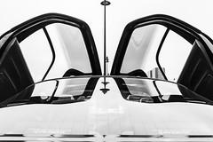 Abundance of glass (GmanViz) Tags: gmanviz detail car automobile vehicle toyota sera doors window glass blackandwhite bw canon eos rebel xti