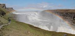Les couleurs de l'eau (Révélateur de beauté) Tags: andréguyrobert andreguyrobert gullfoss chute falls rivière hvita river islande iceland arcenciel rainbow