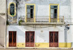 'Five to One' (Canadapt) Tags: building wall doors window balcony facade pipe electrical street portugal canadapt santarém