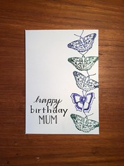 Mum's birthday card 2019 (What I saw...) Tags: homemade card craft handmade papercraft stamping handlettering lettering mums birthday 2019