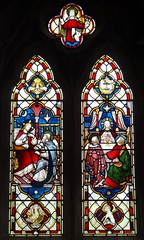 Shipton Moyne, Gloucestershire (Sheepdog Rex) Tags: stainedglass stjohnthebaptistschurch shiptonmoyne