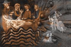 Medieval (seguicollar) Tags: art arte artedigital texturas virginiaseguí imagencreativa photomanipulation dragón caballo pez viajes agua combinado medieval figuras personas barco brillante