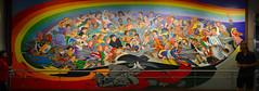 Peace panorama (radargeek) Tags: co colorado airport denver mural painting panorama childrenoftheworlddreamofpeace leotanguma children war rainbow art 2017 july flag soldier swords