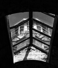 Guard Tower (Dalliance with Light (Andy Farmer)) Tags: abandoned decay easternstatepenitentiary guardtower weathered monochrome dilapidated bw prison philadelphia philly pennsylvania unitedstatesofamerica us