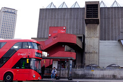 Level Up (Michael Goldrei (microsketch)) Tags: fujilovers x100t england eu street giants south routemaster level red photos marz märz london st photography fuji influence gallery concrete series buses spring photo up mar ascend 19 repetition stop european staircase southbank repeat xseries bus fujifilm brutalism hayward bank brutalist spikes steps form march feb uk x photographer europe shoulders 2019