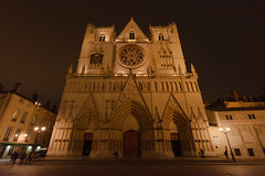 Cathédrale Saint-Jean-Baptiste (faoch) Tags: lyon france night cathedral church