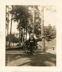 Field Artillery (KID DEUCE) Tags: old photo snapshot history nostalgia found soldier artillery